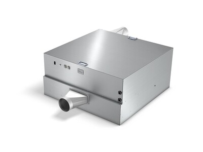 PIFF-COMPACT module without air grill and installation frame, incl. make-up/exhaust air connection (optional) (Grid size 1200x1200 mm)