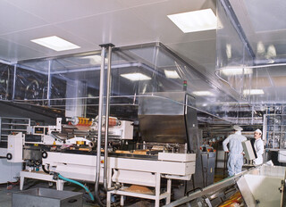 Curtain System above packaging line